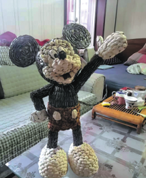 The Mickey Mouse figure made by Leng Yang from Weifang, Shandong province. CHINA DAILY