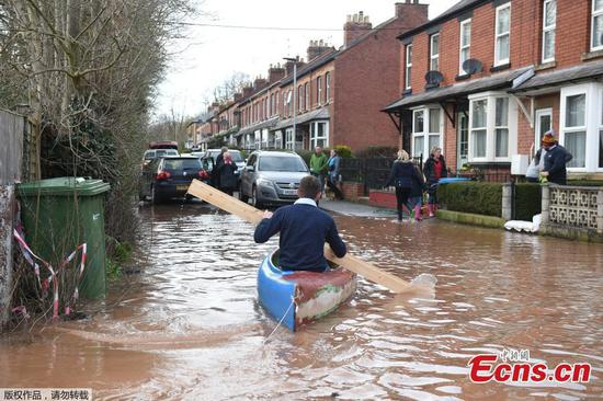 Storm Dennis strikes UK sparking flood warnings and evacuations