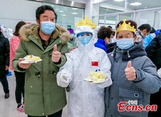 Special birthday party held in cabin hospital in Wuhan