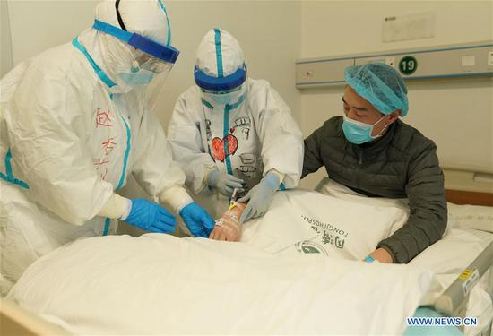 Treatment of medical worker infected with COVID-19 in Wuhan