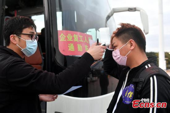 Charter flights bring workers back to work in Fuzhou