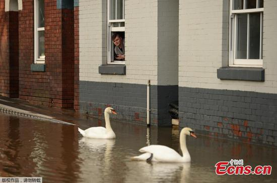Severe flood warning in place in Shrewsbury, UK