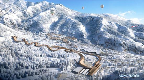 National Sliding Center for 2022 Winter Olympic Games in Beijing