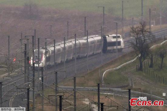 TGV high-speed train derails in France