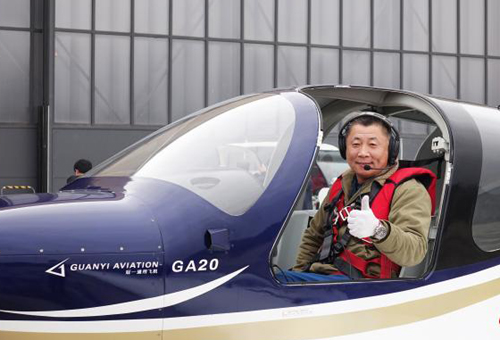 Chinese pilot debuts home-developed GA20