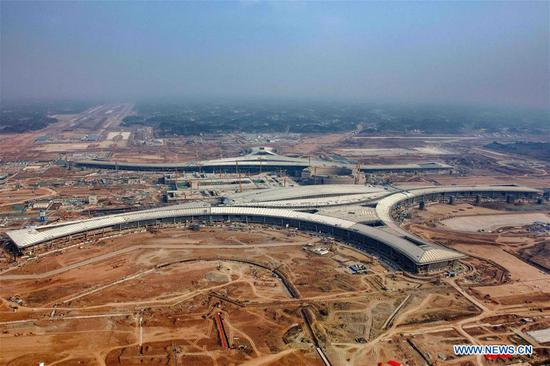 Chengdu speeds up construction of Chengdu Tianfu Int'l Airport