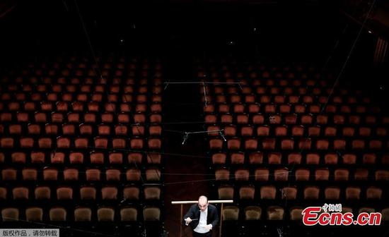 Concert hall stages show without an audience due to coronavirus