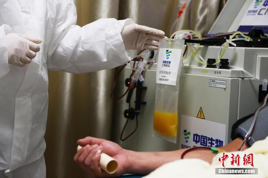 China's Wuhan to build COVID-19 convalescent plasma pool