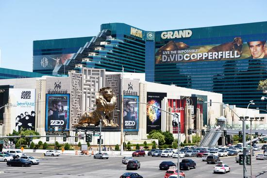 MGM Grand Hotel & Casino is pictured in Las Vegas, the United States, May 12, 2019. (Xinhua/Han Fang)