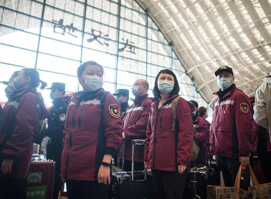 Medical teams depart healing Wuhan as heroes