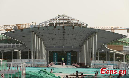 Universal theme park under construction in Beijing