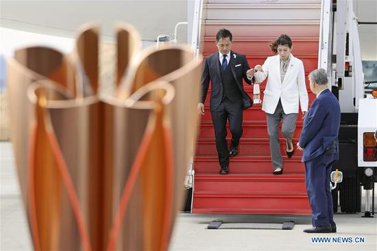 Olympic flame arrives in Japan