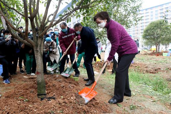 Academician and medics plant trees