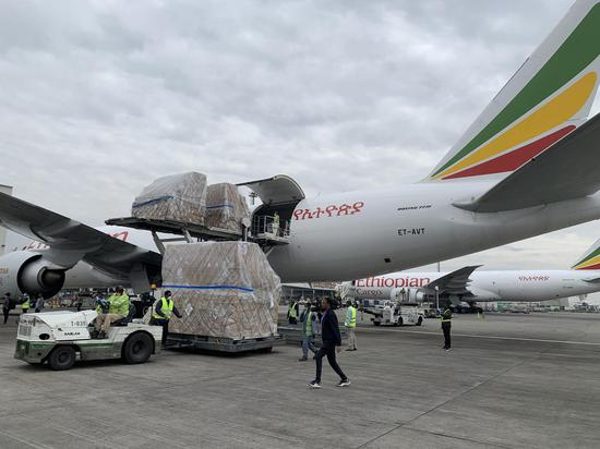 Millions of masks, COVID-19 test kits donated by Jack Ma Foundation for Africa arrives in Ethiopia