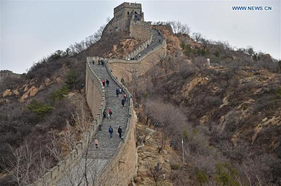 Badaling section of Great Wall in Beijing partly opens