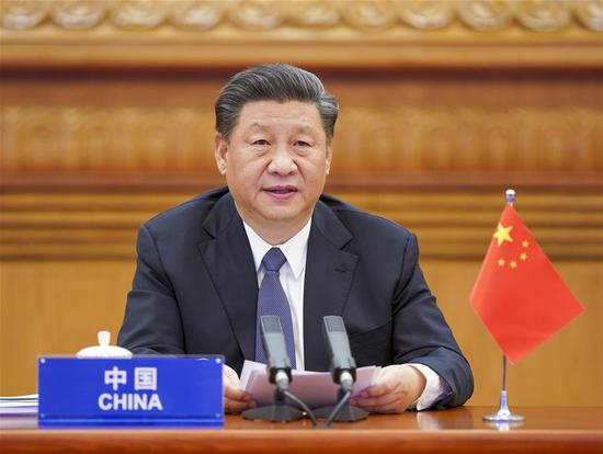 Chinese President Xi Jinping attends the G20 Extraordinary Virtual Leaders' Summit on COVID-19 via video link in Beijing, capital of China, March 26, 2020. (Xinhua/Li Xueren)