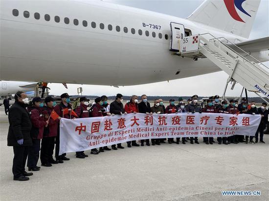 中国医学专家抵达米兰