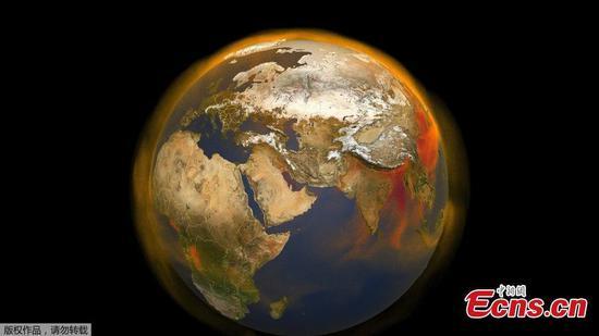NASA揭示了全球甲烷浓度的新3D视图