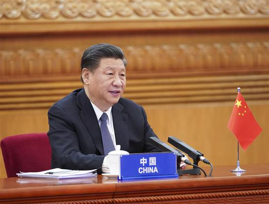 Chinese President Xi Jinping attends the G20 Extraordinary Virtual Leaders' Summit on COVID-19 via video link in Beijing, capital of China, March 26, 2020. (Xinhua/Pang Xinglei)