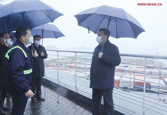 Xi inspects work resumption in Zhejiang
