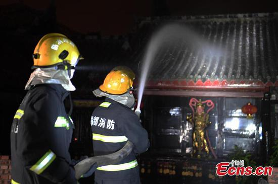 Battle against forest fire continues in Xichang