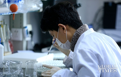 A scinetist is doing research on a vaccine against COVID-19 in Shanghai. (Photo:Yang Hui/GT)