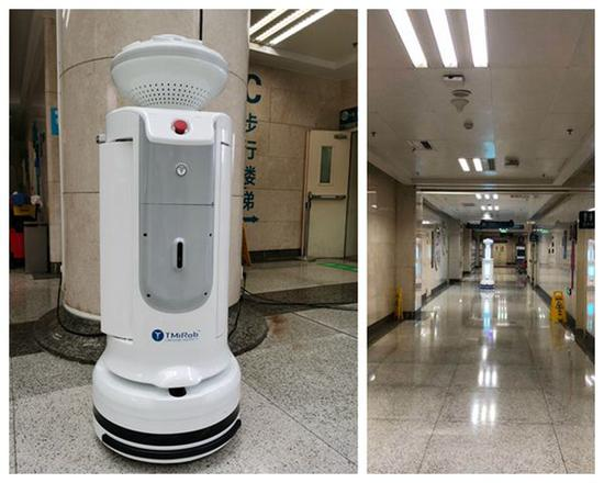 Central China hospital introduces disinfection robots amid epidemic