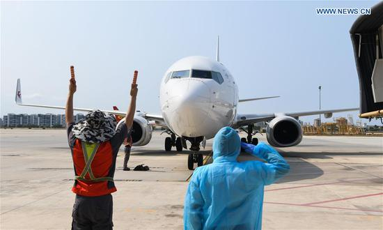 First flight from Wuhan arrives in Sanya since outbound travel restrictions lifted