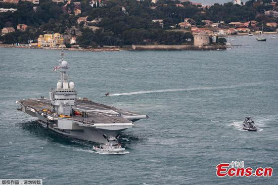 French aircraft carrier returns to port after suspected COVID-19 cases found aboard