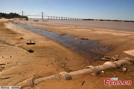 Decade-low water levels recorded in Argentina's Parana River