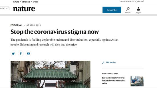Science journal Nature issues apology for associating China, Wuhan, COVID-19