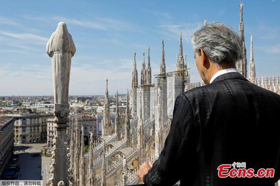 Millions watch Andrea Bocelli sing in empty Milan cathedral