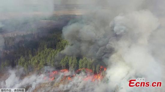 Fire raging near Ukraine's Chernobyl poses radiation risk