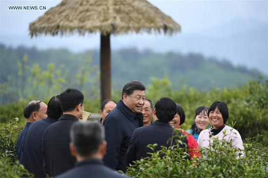 Xi inspects poverty alleviation in Shaanxi Province