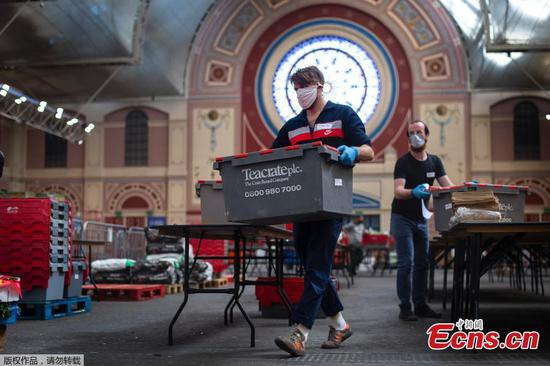 Alexandra Palace transformed into food distribution hub during lockdown