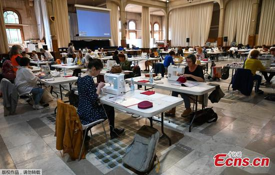 Town hall transformed into facial mask factory in France