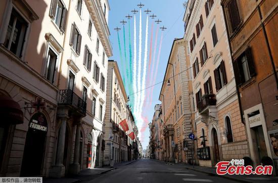 意大利在封锁期间标志着不寻常的解放日