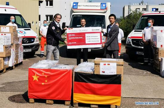 China's rolling stock manufacturer donates medical equipment to Germany