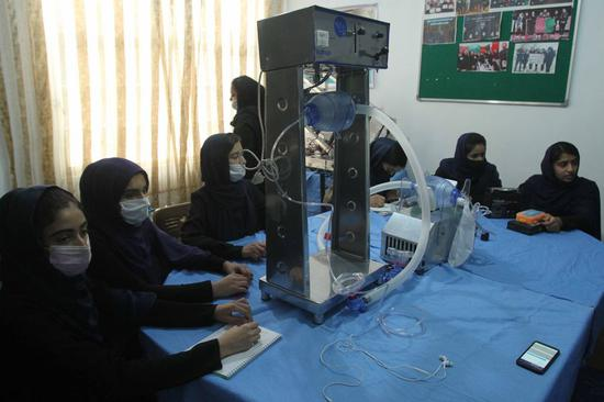 All-girl Afghan robotic team tries to build cheap ventilators to help COVID-19 patients