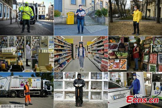 In pics: Workers defying the novel coronavirus around the world