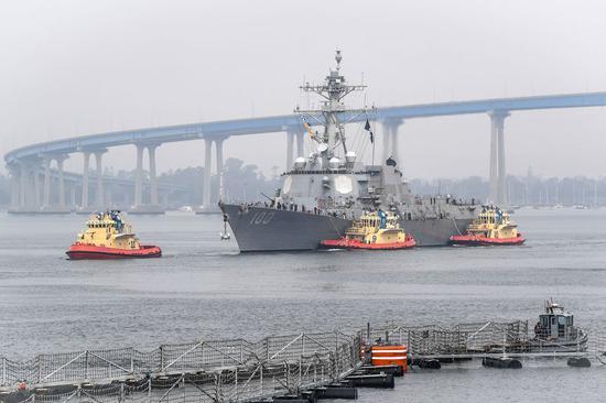 64 sailors test positive for COVID-19 aboard U.S. Navy destroyer