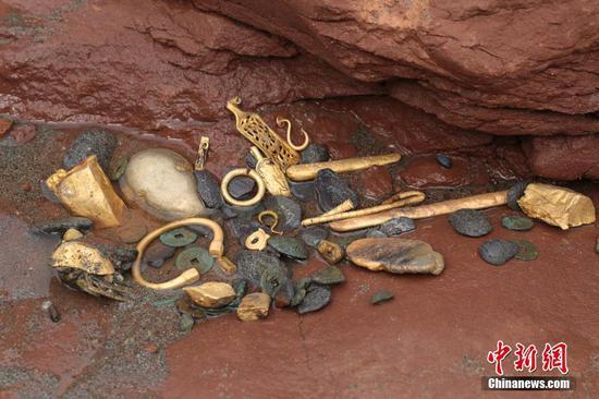 江口晨音古迹考古发掘现场