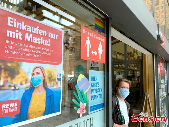 Face masks become mandatory in all shops and on public transport in Berlin, Germany