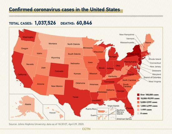 U.S. COVID-19 deaths pass 60,000: Johns Hopkins