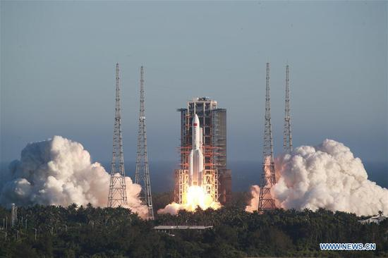 China launches new Long March-5B rocket for space station program