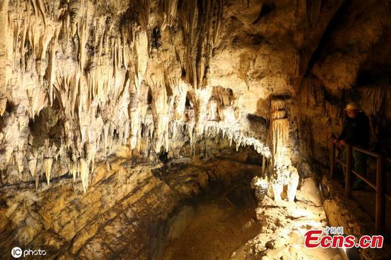 In pics: Limestone cave in Croatia