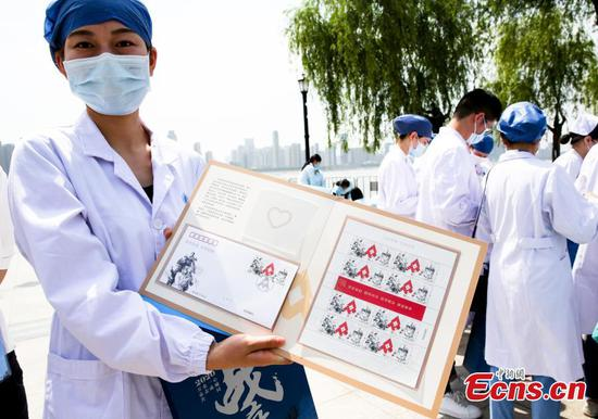 China Post marks coronavirus fight with newly issued stamps
