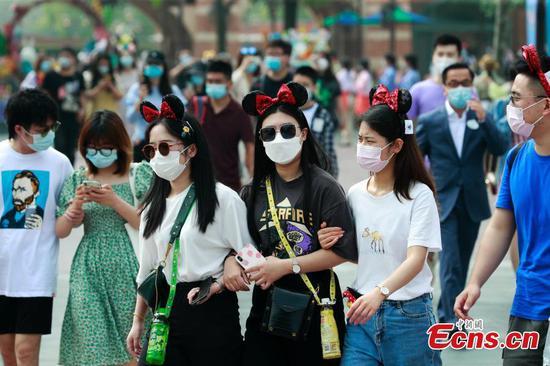 封闭三个月的病毒后,上海迪士尼乐园重新开放