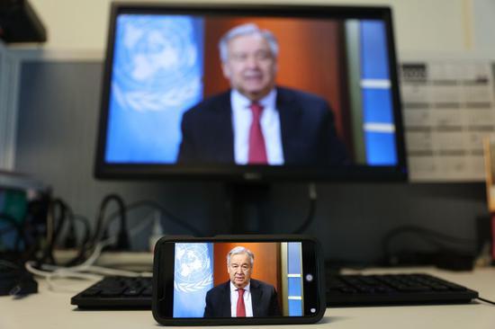 UN chief extends telecommuting arrangements to July 31