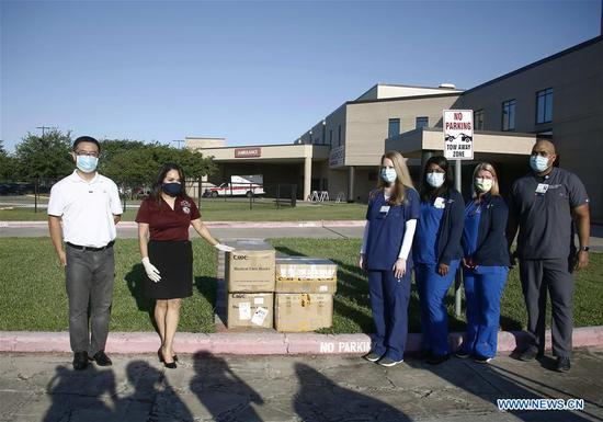 Chinese students donate PPE to U.S. hospitals through Texas school